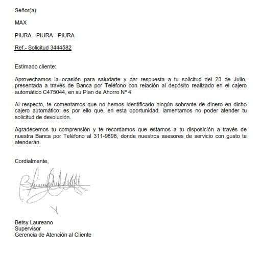 Noticia calidad bcp for Dinero maximo cajero